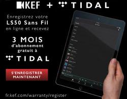 KEF LS50 : promotion Tidal
