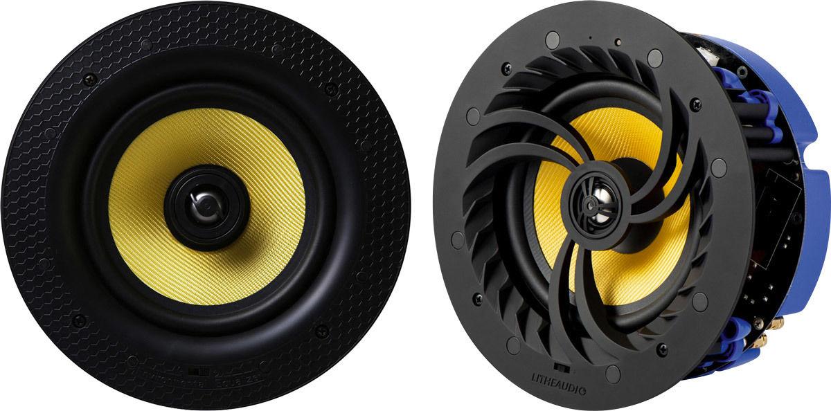 Enceintes Bluetooth encastrables Lithe Audio WiFi Multiroom Ceiling Speaker + Passive