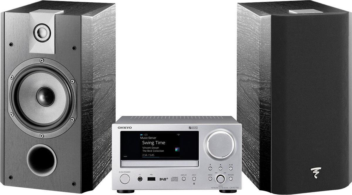 Chaînes connectées Onkyo CR-N775D Silver + Chorus 706V Noir