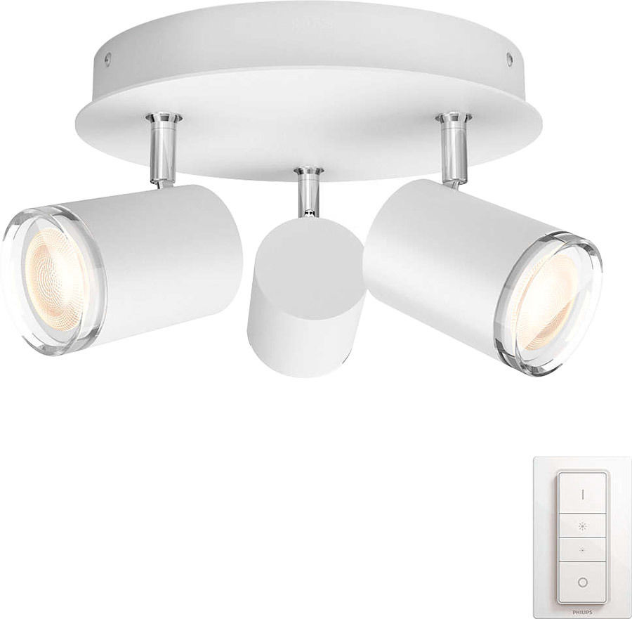 Éclairage connecté Philips Hue White Ambiance Adore Plafonnier 3 Spots