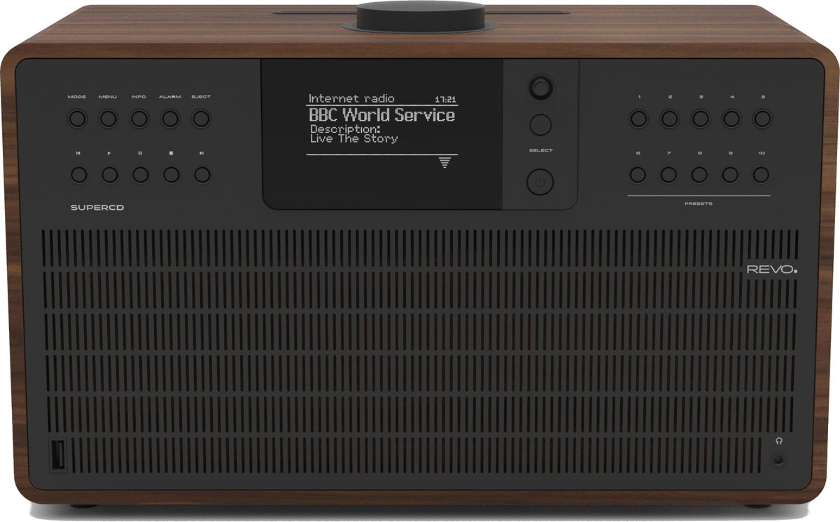 Radios Internet Revo SuperCD Noyer/Noir
