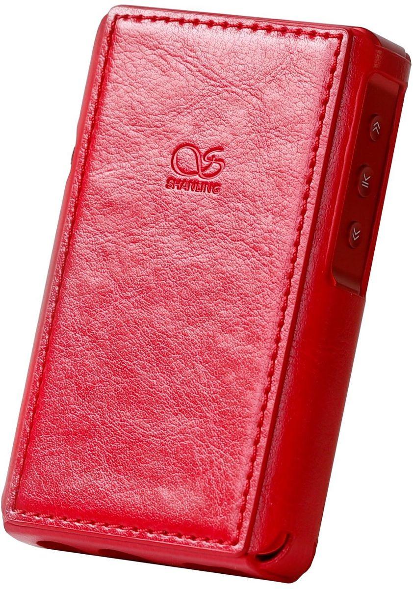 Étuis et protections Shanling Housse de protection simili cuir Rouge pour Shanling M5s