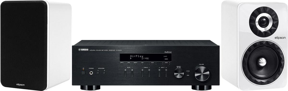 Chaînes connectées Yamaha MusicCast R-N303 Noir + Prestige Facet 6B Blanc