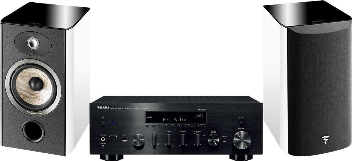 Chaînes connectées Yamaha MusicCast R-N803 Noir + Aria 906 Blanc laqué