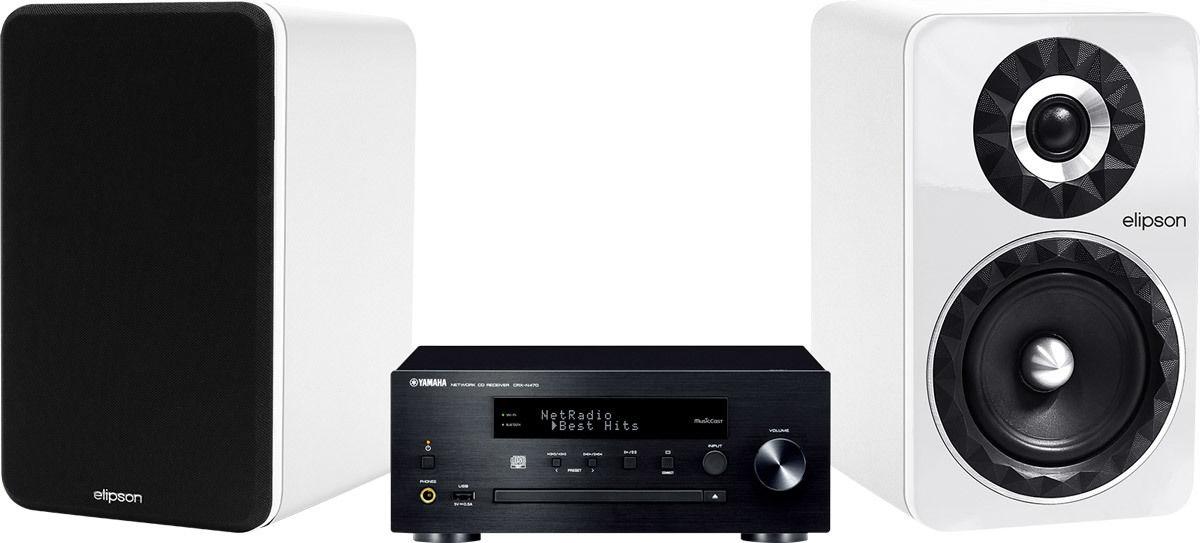 Chaînes connectées Yamaha MusicCast CRX-N470 Noir + Prestige Facet 6B Blanc