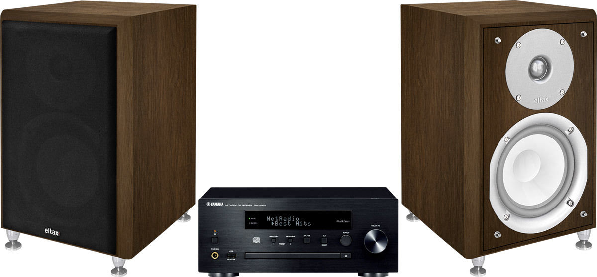 Chaînes connectées Yamaha MusicCast CRX-N470 Noir + Monitor III Noyer