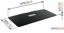 Vogel's DesignMount Next 7825 Vue schéma dimensions