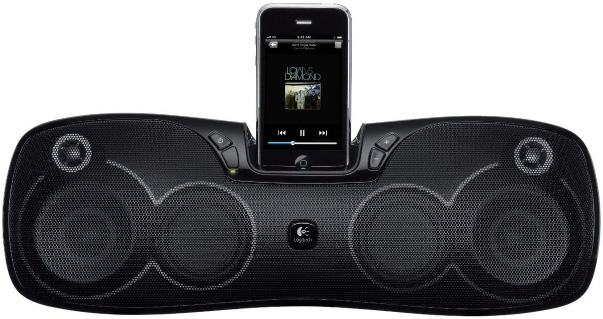 logitech s715i enceintes ipod iphone son vid. Black Bedroom Furniture Sets. Home Design Ideas