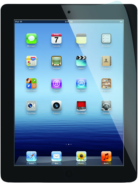 Tr� Film anti-reflets iPad Vue principale