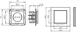 Gigawatt G-044 Schuko Vue schéma dimensions