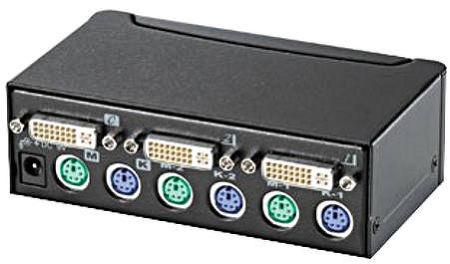 Commutateur KVM-DVI (2 PC) Vue principale