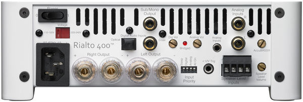AudioControl Rialto 400 - Connectique