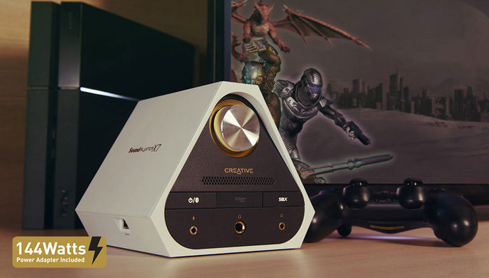 Creative Sound Blaster X7 Limited Edition : DAC USB 24/192, ampli 2 x 50 Watts