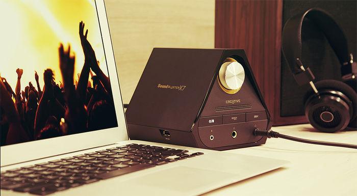 Creative Sound Blaster X7 : DAC USB 24/192, ampli 2 x 20 Watts