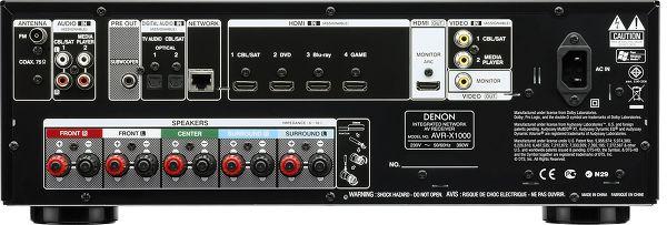 Denon AVR-X1000 face arrière