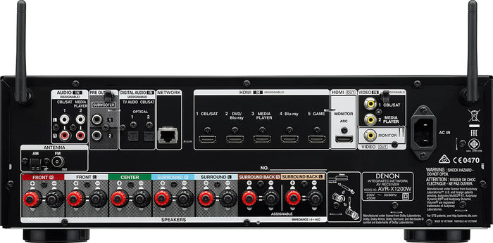 Denon AVR-X1200W - Connectique