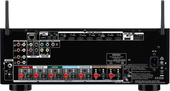 Denon AVR-X21100W - Connectique