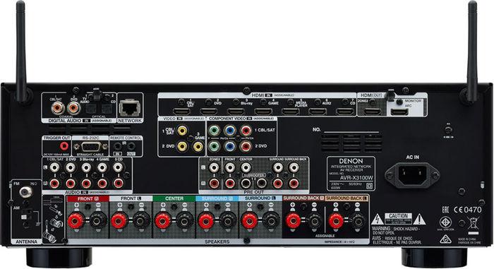 Denon AVR-X3100W - Connectique
