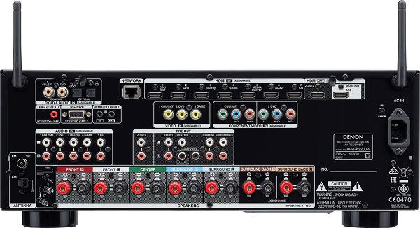 Denon AVRX3200 vue arrière
