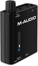 M-Audio Bass Traveler Vue 3/4 gauche