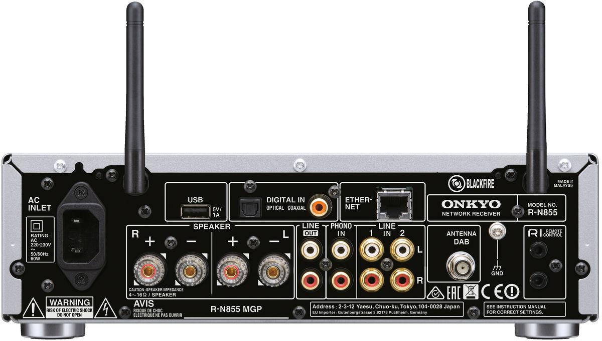 onkyo r n855 noir amplis connect s sur son vid. Black Bedroom Furniture Sets. Home Design Ideas