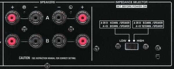 Yamaha AS-501 sélecteur d'impédance