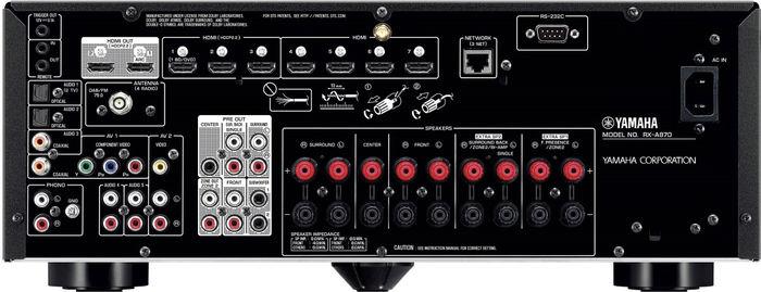 Yamaha Aventage RX-A870 : connectique