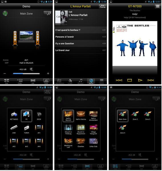 L'application de contrôle pour iOS et Android