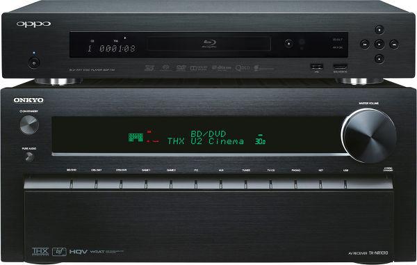 Onkyo TX-NR1010 Noir / Oppo BDP-103 Vue principale