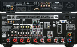Onkyo TX-NR3010 Noir / Oppo BDP-103 Vue arrière