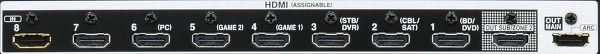 Connecteur HDMI sur amplificateur