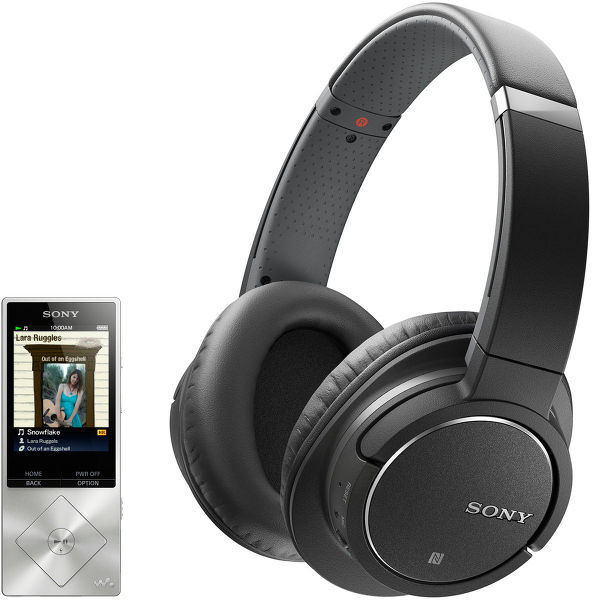 Sony NWZ-A15 + MDR-ZX770BN Vue principale