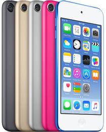 Apple iPod touch 6G Vue toutes les couleurs
