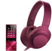 Sony NW-A25 + MDR-100AAP Rose