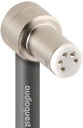 Audioquest Leopard Tonearm RCA coudé Vue de détail 1