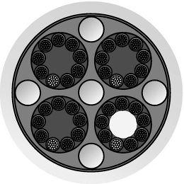QED Genesis Silver Spiral Bi-Wire Vue de détail 1