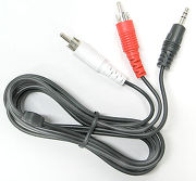 SVD Pro Mini-Jack 3,5 mm vers 2 RCA m�les (1,5 m)