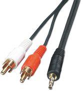 SVD Pro Mini-Jack 3,5 mm vers 2 RCA mâles (1,2 m)
