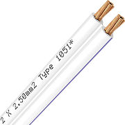 Oehlbach Speaker Wire 2 x 2,5 mm (100 m) blanc