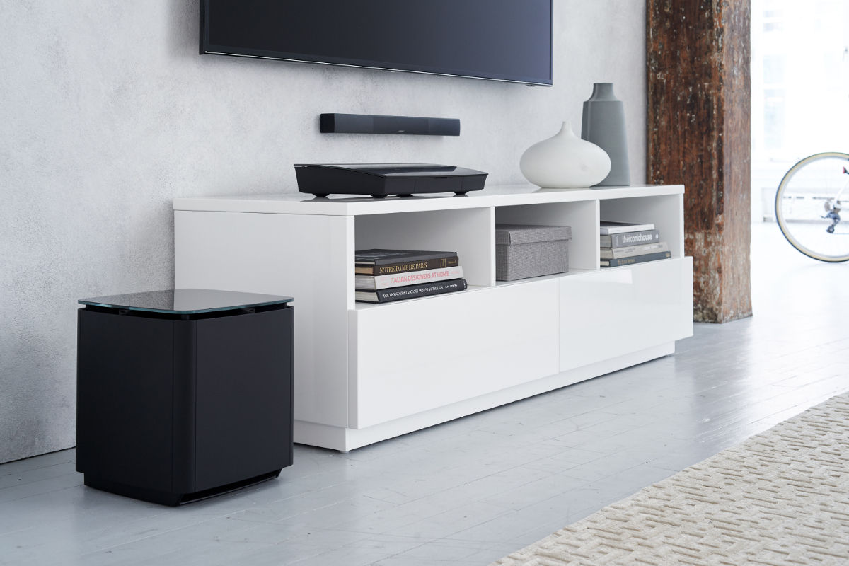bose acoustimass 300 blanc caissons de basses sur son vid. Black Bedroom Furniture Sets. Home Design Ideas