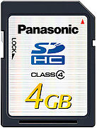 Panasonic SDHC Class 4 (4 Go)