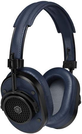 MH40 cuir Bleu marine et métal Noir