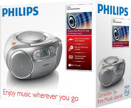 Philips AZ127 Vue Packaging
