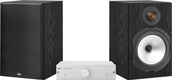 Musical Fidelity 90 / Monitor audio MR Vue principale