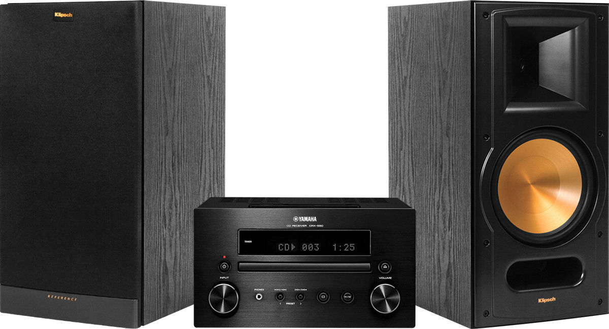yamaha 550 klipsch 81 cha nes compos es son vid. Black Bedroom Furniture Sets. Home Design Ideas