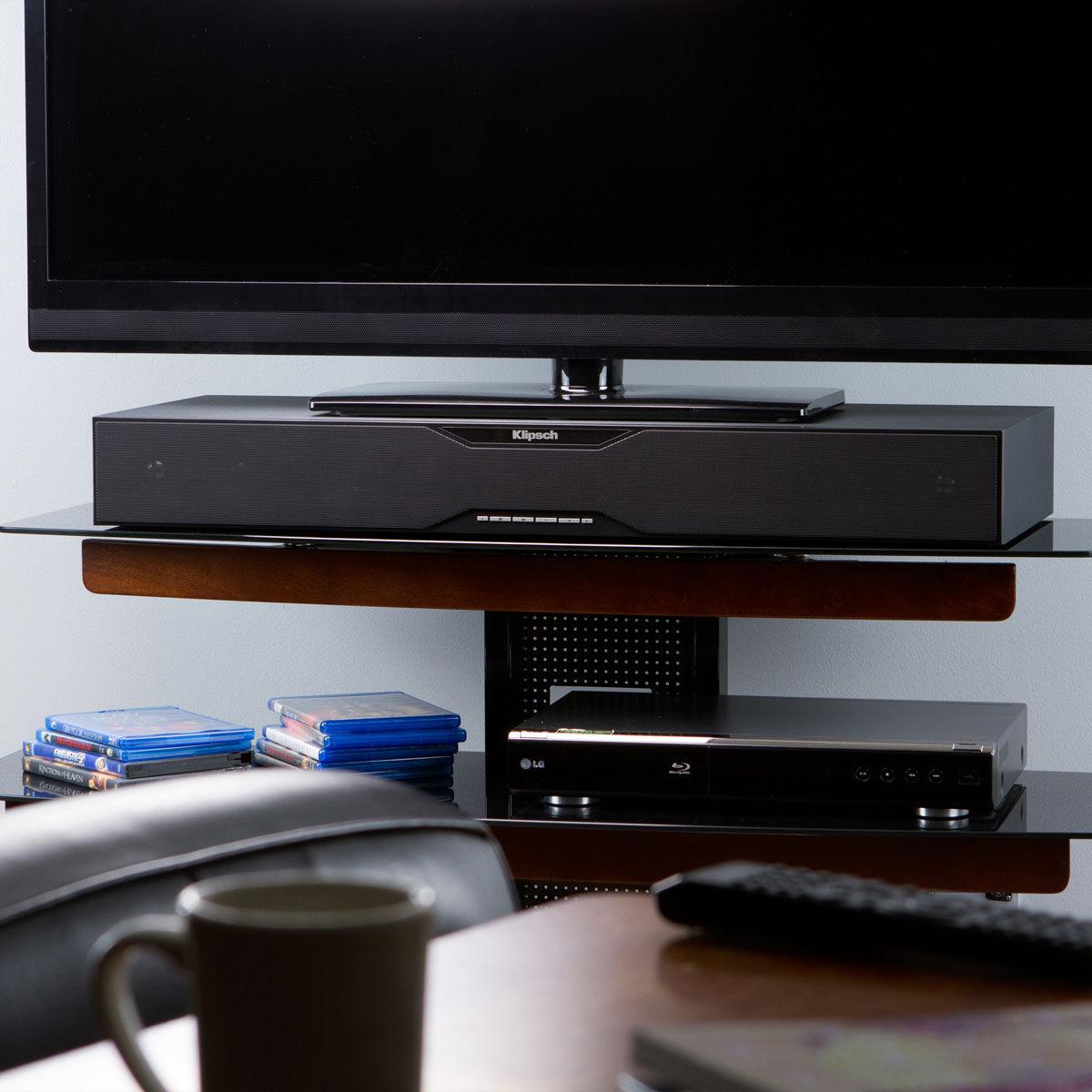 bases enceintes tv sur son. Black Bedroom Furniture Sets. Home Design Ideas
