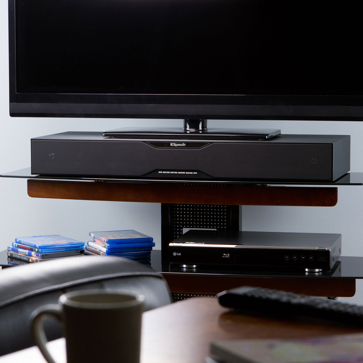 Bases enceintes tv sur son - Meuble tv avec barre de son ...