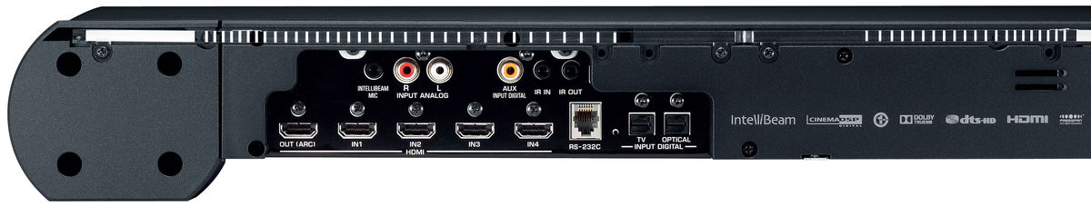 Connectique barre de son Yamaha YSP-3300