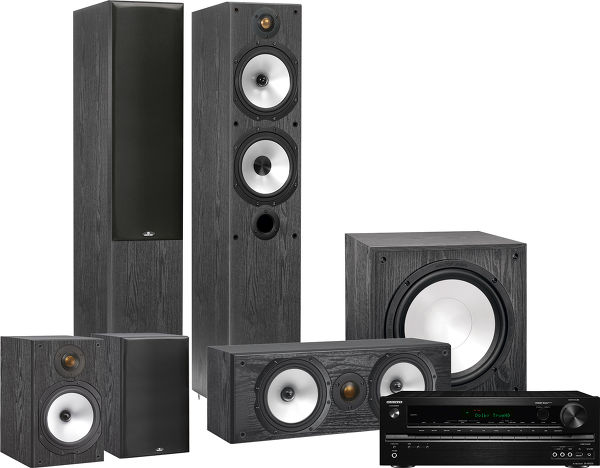 Onkyo 545 / Monitor Audio MR4 HC Vue principale