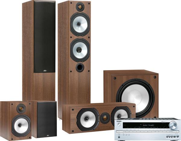 Onkyo 545 / Monitor Audio MR4 HC Vue principale